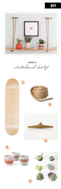 DIY Skateboard Shelf | 100 Layer Cakelet
