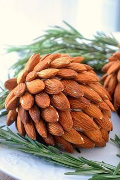 almond pinecone cheese ball
