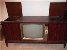 Old console tvs with the record players build in, now you was considered rich if this was in your house (: