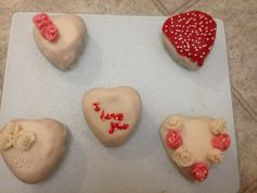 Valentines day little cakes..
