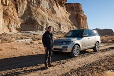Adventure expert and host Ryan Van Duzer with the 2013 Range Rover. Photograph by Robert Wright
