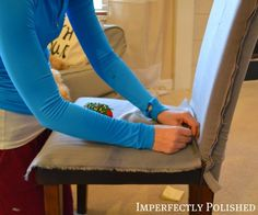 How to sew a parsons chair cover