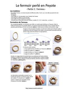 perles et cie: schema fermoir perle en Peyote par Oceanie Creations