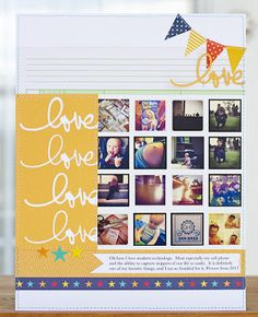 Cute scrapbook layout with @Kerry Chilton Inc. products!