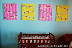 Pennants on canvas