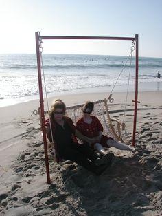 $725.00 Beach swing sand frame by Randy McKnight on ETSY.