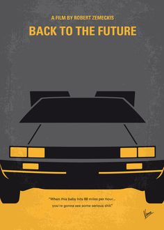 Back to the Future  minimal movie poster  Art Print