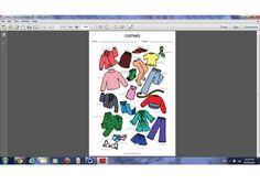 cloth worksheet, label worksheet, french worksheets