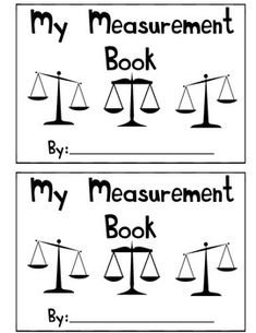 My Measurement Book - A Book About Weight