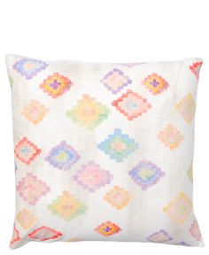 Painted Diamond Pillow Cover