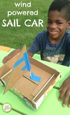 Design and build your own wind-powered vehicle! http://www.greenkidcrafts.com/wind-powered-sail-car/