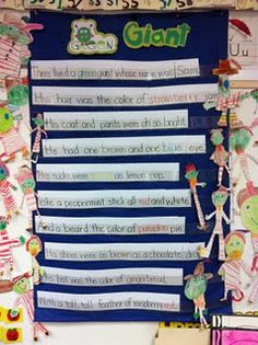 Green Giant Poem - Mrs. Williamson at Welcome to Room 36 has some FANTASTIC resources for teaching mental images using the poem Green Giant. She even has a copy of the poem you can use in a pocket chart.