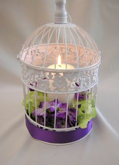 Purple Green Wedding Birdcage Card Holder Bird Cage Centerpieces Your Colors   eBay