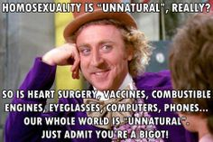 Homosexuality is Unnatural? Just like every modern thing you use!