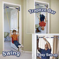 indoor swing.  MAN I wish I would have had this with the infant seat when my little guy was a baby!