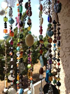 Mobile Suncatcher Chimes  Home Garden Decor  Beads and by LiLaXO #boho #bohemian #gypsy #hippie decor