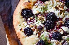 Blackberry fennel pizza