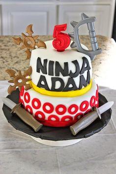 Ninja themed birthday party : The Cake