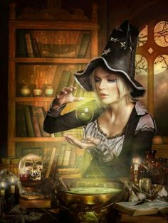 <3 Witch evoking a spell