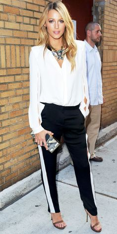Blake Lively in Lanvin for an appearance on Late Night with Jimmy Fallon July 2012