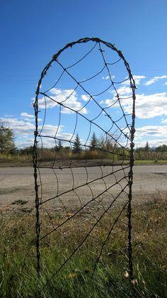 Barbed Wire Spider Web Garden Trellis