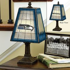 This lamp would look great on a nightstand in your Seahawks bedroom. $59.95