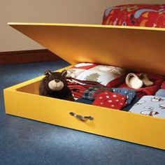 This under-the-bed storage box is made from a single sheet of plywood. Click the image for the how-to.