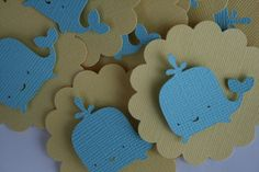 Baby Whale Party Embellishments via ShowersBringFlowers