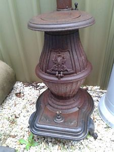 old pot belly coal stove