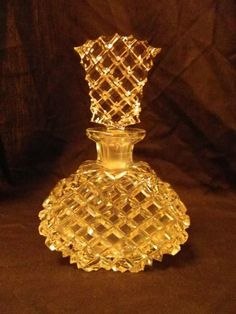 boudoir perfume bottle strong edged cut glass sparkly and divine, make you mine. $30.00, via Etsy.