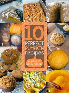 10 Perfect Pumpkin Recipes #pumpkin #fall