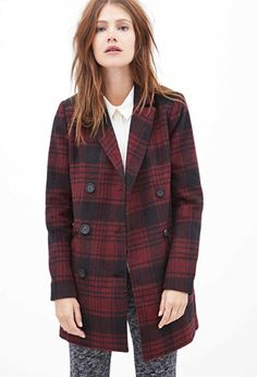 Style Stealer: Plaid Pea Coat
