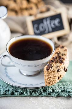 Coffee biscotti, coffe time, chocolate chips, green coffee, cafe, café, coffee time, tea, cup of coffee
