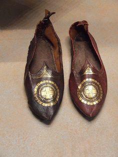 Byzantine shoes, Byzantine Museum, Athens.