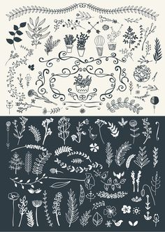 Vintage Hand Illustrated Logos & Shapes - http://designyoutrust.com/2014/08/vintage-hand-illustrated-logos-shapes/