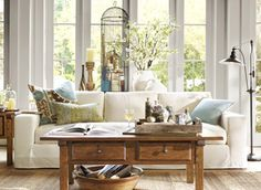 decor, potterybarn, coffee tables, idea, living rooms, potteri barn, barn living, live room, pottery barn