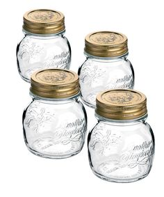 Take a look at this Bormioli Rocco Quattro Stagioni 0.25-L Canning Jar - Set of Four on zulily today!