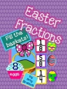 Easter Egg Fractions Math Center Activities