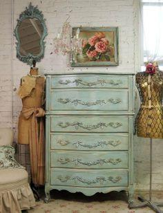 aqua vintage shabby chic via imgfave