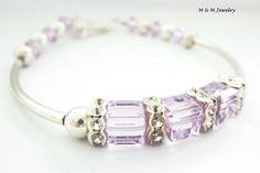 June Swarovski Crystal Birthstone Sterling by MeAndMommyJewelry, $38.00