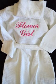 Flower Girl Robe Children's Monogrammed Robe Kid's Robe Personalized Robe Waffle Robe Kimono Spa Robe Personalized Bridesmaids Gift on Etsy, $40.00