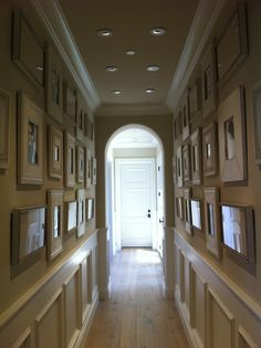Always love a good gallery wall (or hall as the case may be).