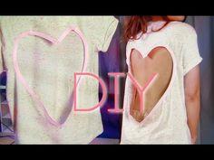#DIY heart-shaped open back shirt