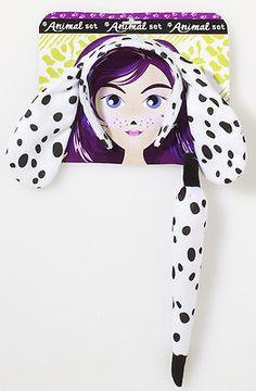 Kids Girls Boys Dalmation Puppy Dog Costume Kit Ears Tail on eBay!