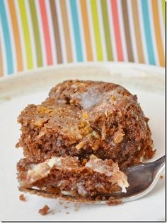German Chocolate Upside Down Cake | View More Recipes