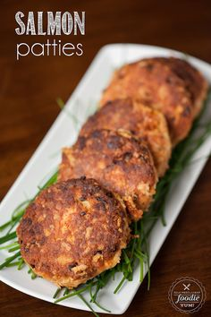 Salmon Patties, made