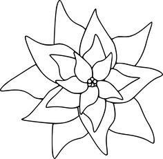 Poinsettia - Free Digital Stamp
