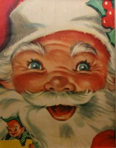 Vintage Coloring Book Santa