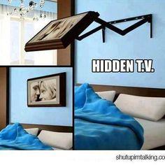 Hidden TV.