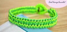 DIY Flat Hemp Bracelet - uses lark's head & square knots, pretty simple  . . . .   ღTrish W ~ http://www.pinterest.com/trishw/  . . . .   #handmade #jewelry